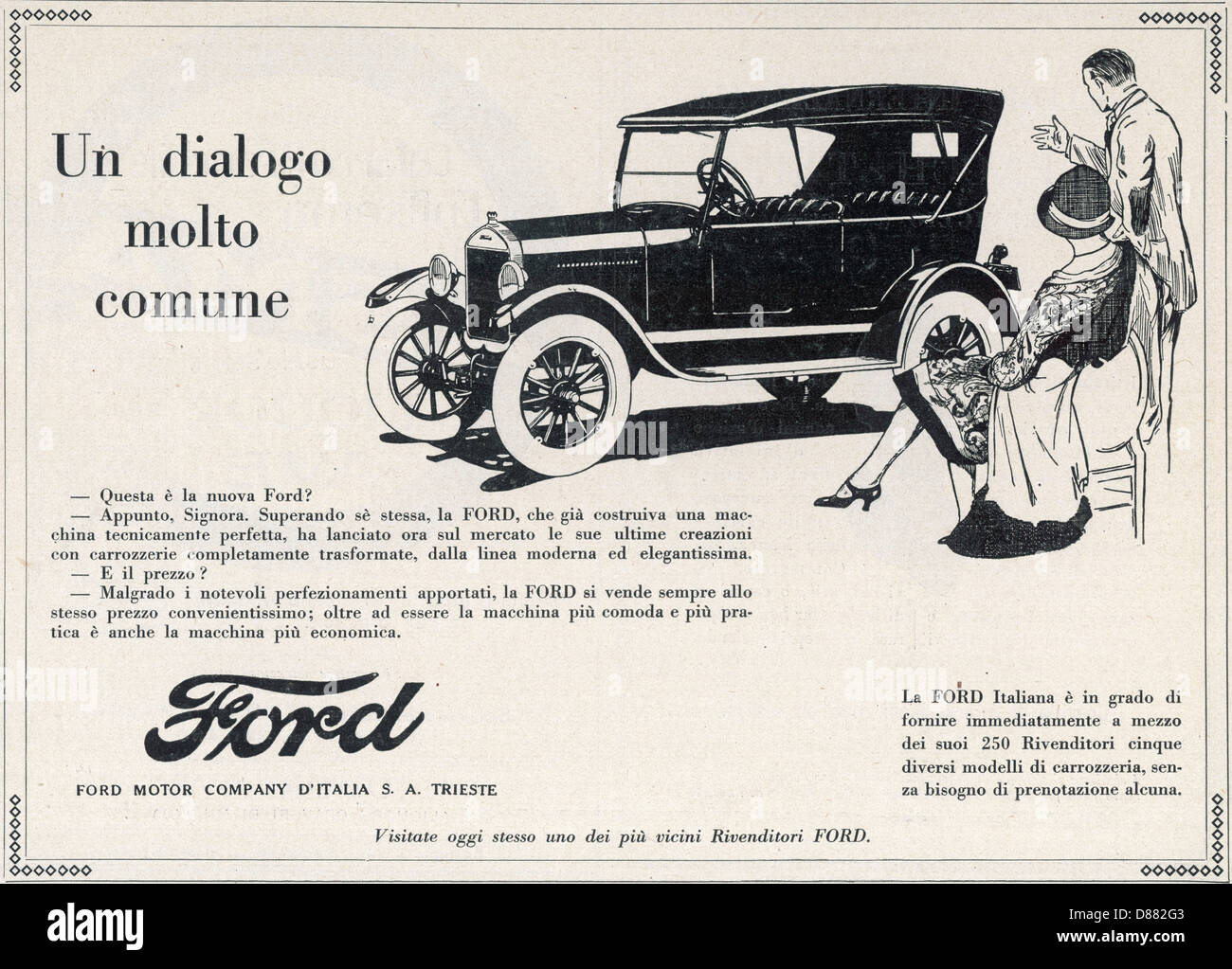 Ford In Italy 2 - Stock Image