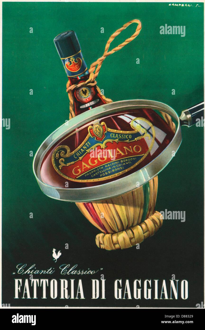 Advert Chianti 1956 - Stock Image
