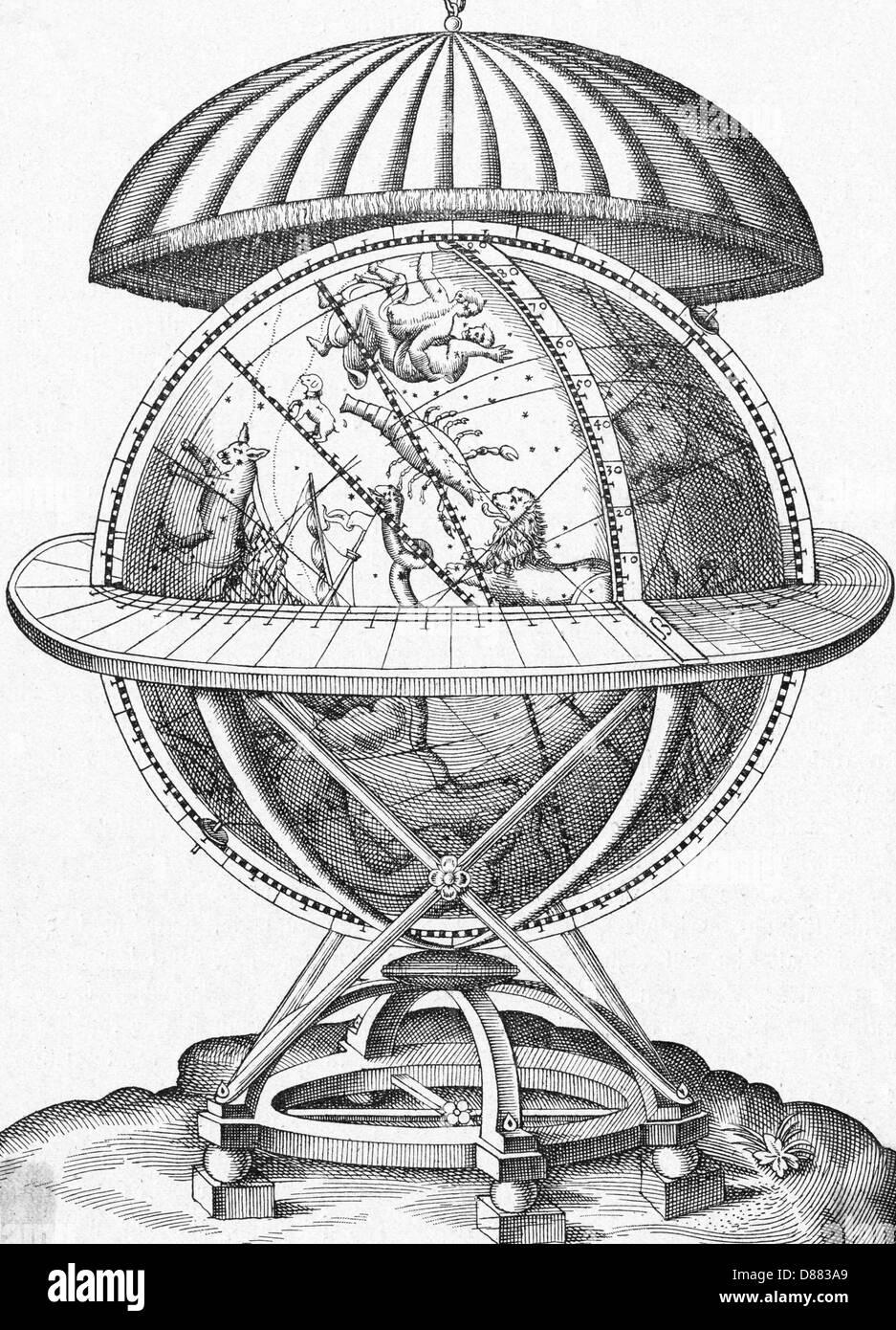 Tycho Brahes Globe - Stock Image
