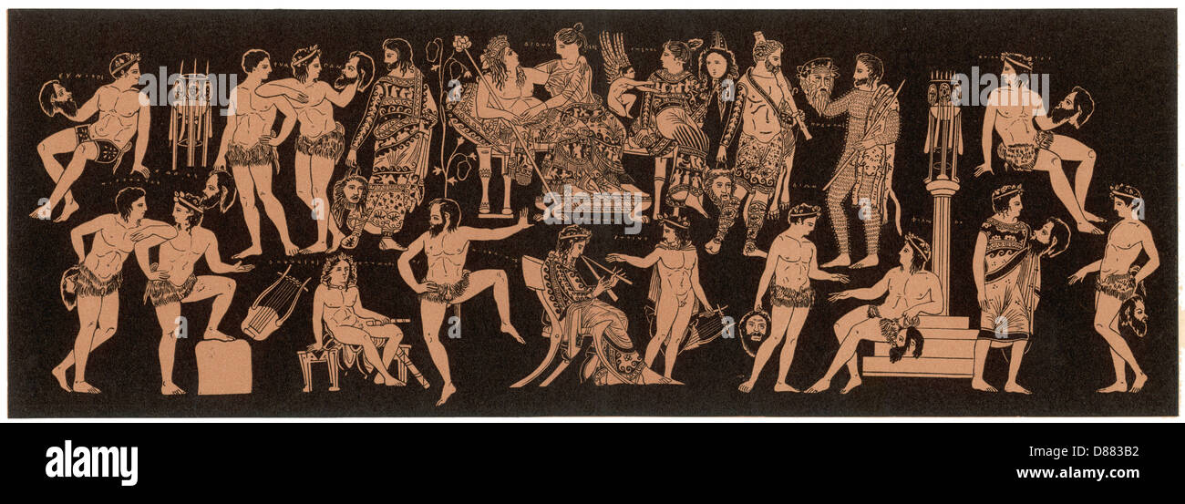 Dionysos At A Feast Stock Photo
