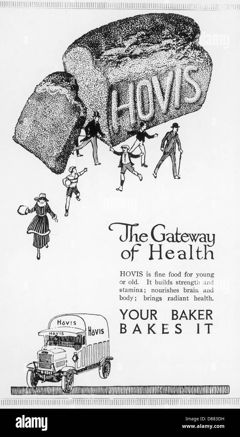 Advert Hovis Bread 1920 - Stock Image