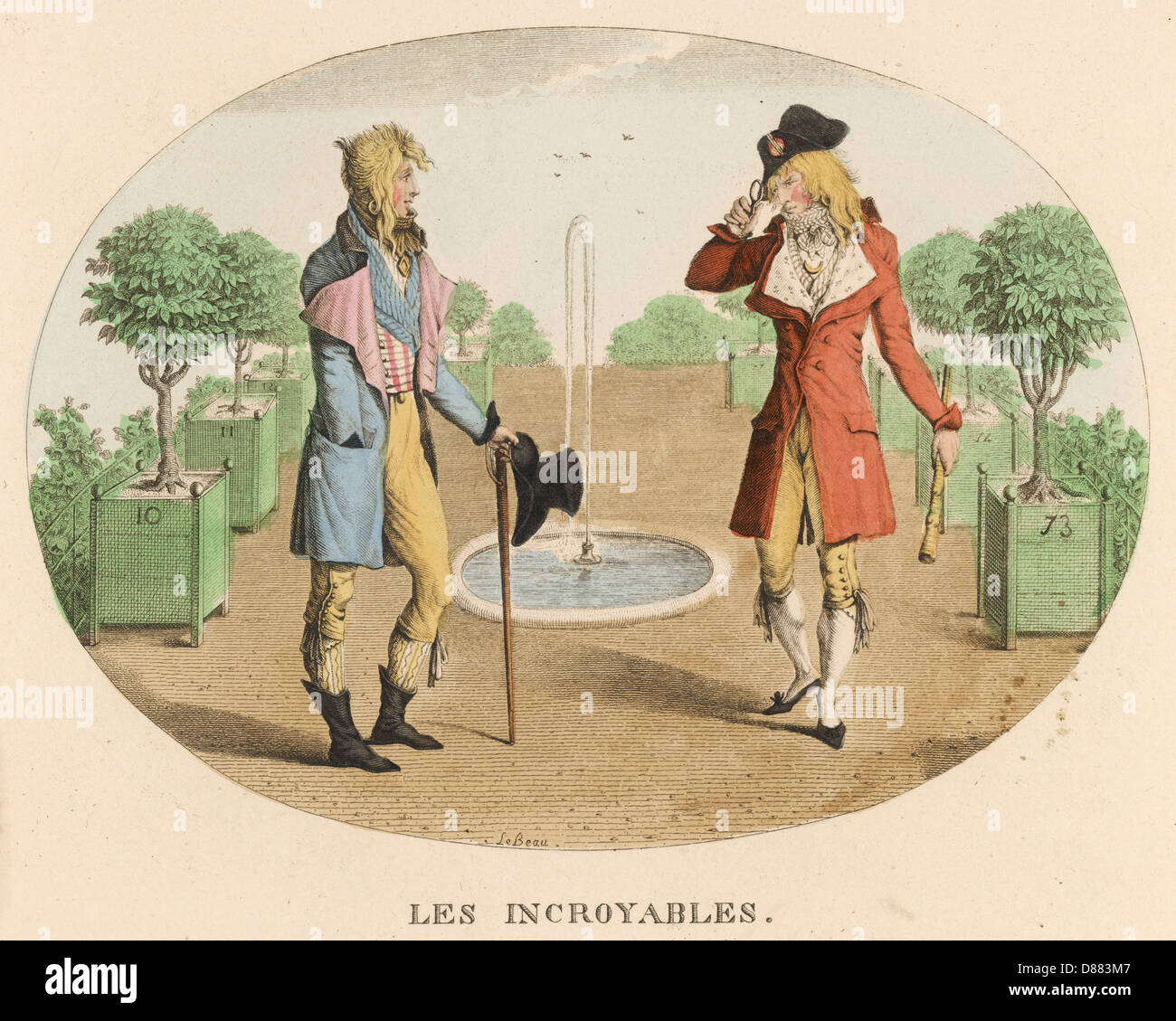 Two Incroyables  1795 - Stock Image