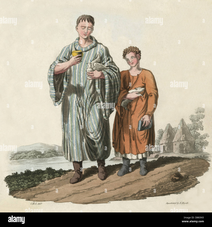 Bardic Scholars Ca 600 - Stock Image