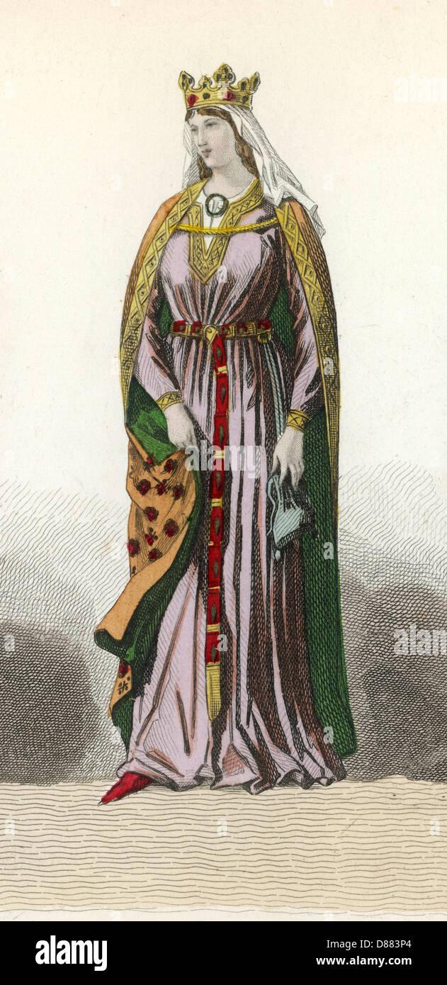 Capetian Woman  C12 2 - Stock Image