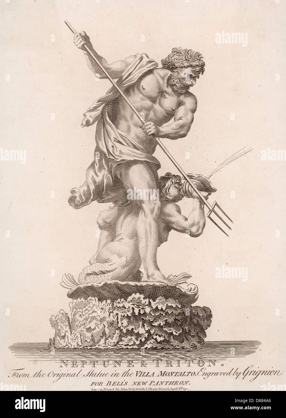 Poseidon Neptune - Stock Image