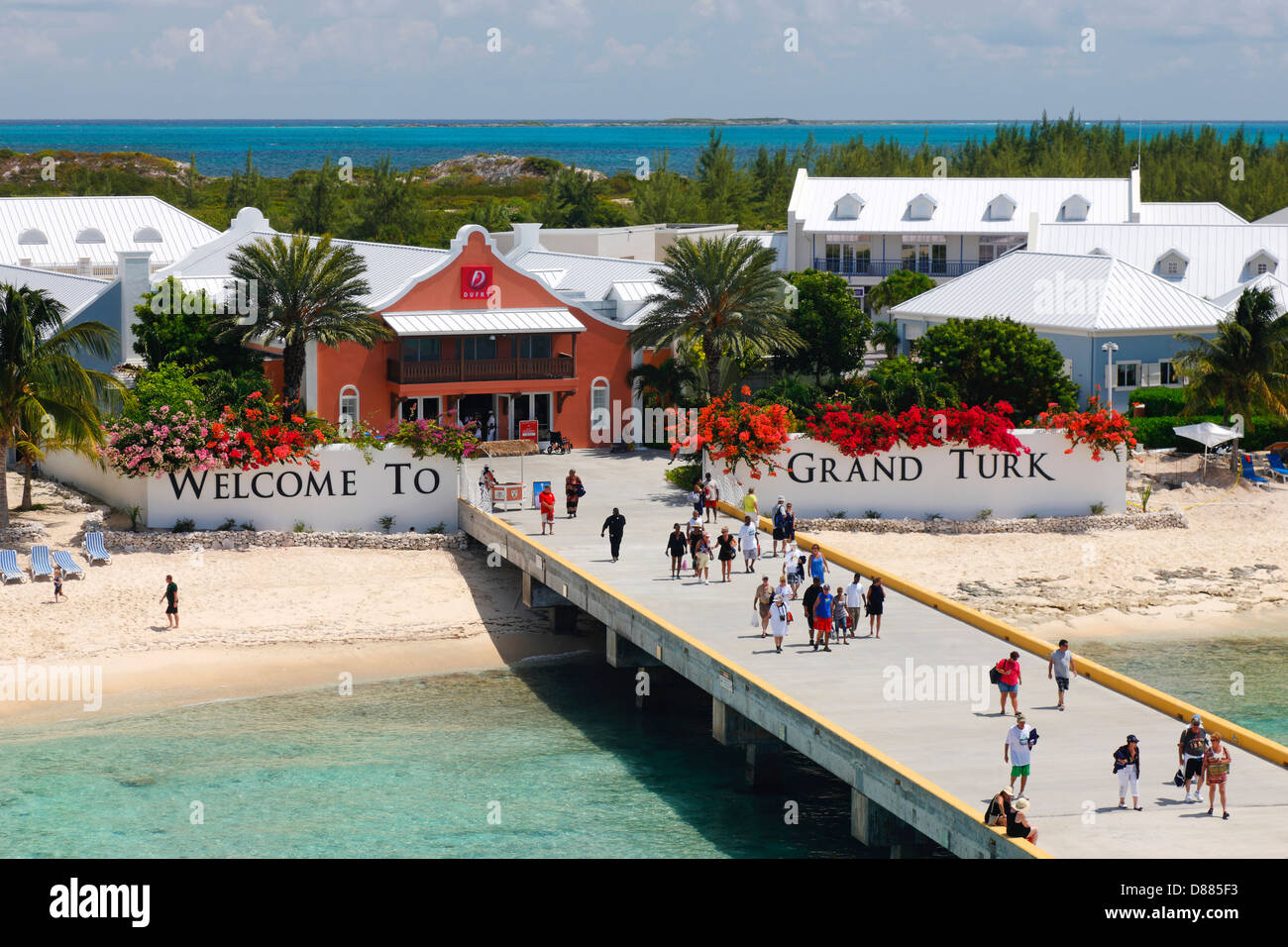 Grand Turk Turks and Caicos islands. - Stock Image