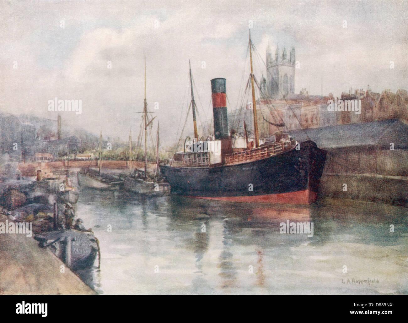 Bristol Docks 1915 - Stock Image