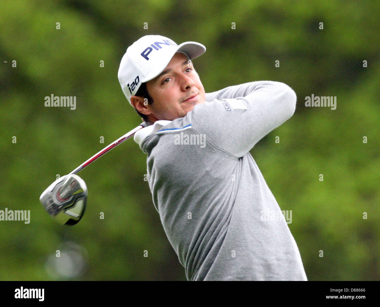 Wentworth, UK. 21st May 2013. Julien Quesne during  practice ahead of the BMW PGA Championships. Credit:  Action Stock Photo
