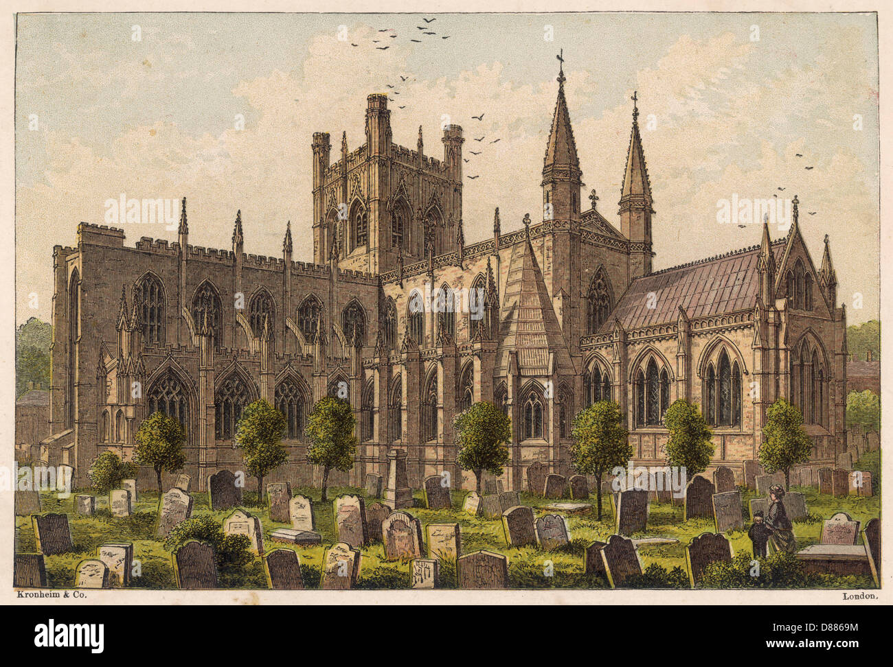 Chester Cathedral 1878 - Stock Image