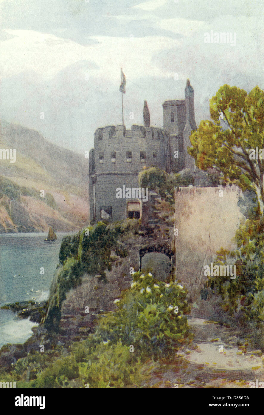 Dartmouth Castle 1919 - Stock Image