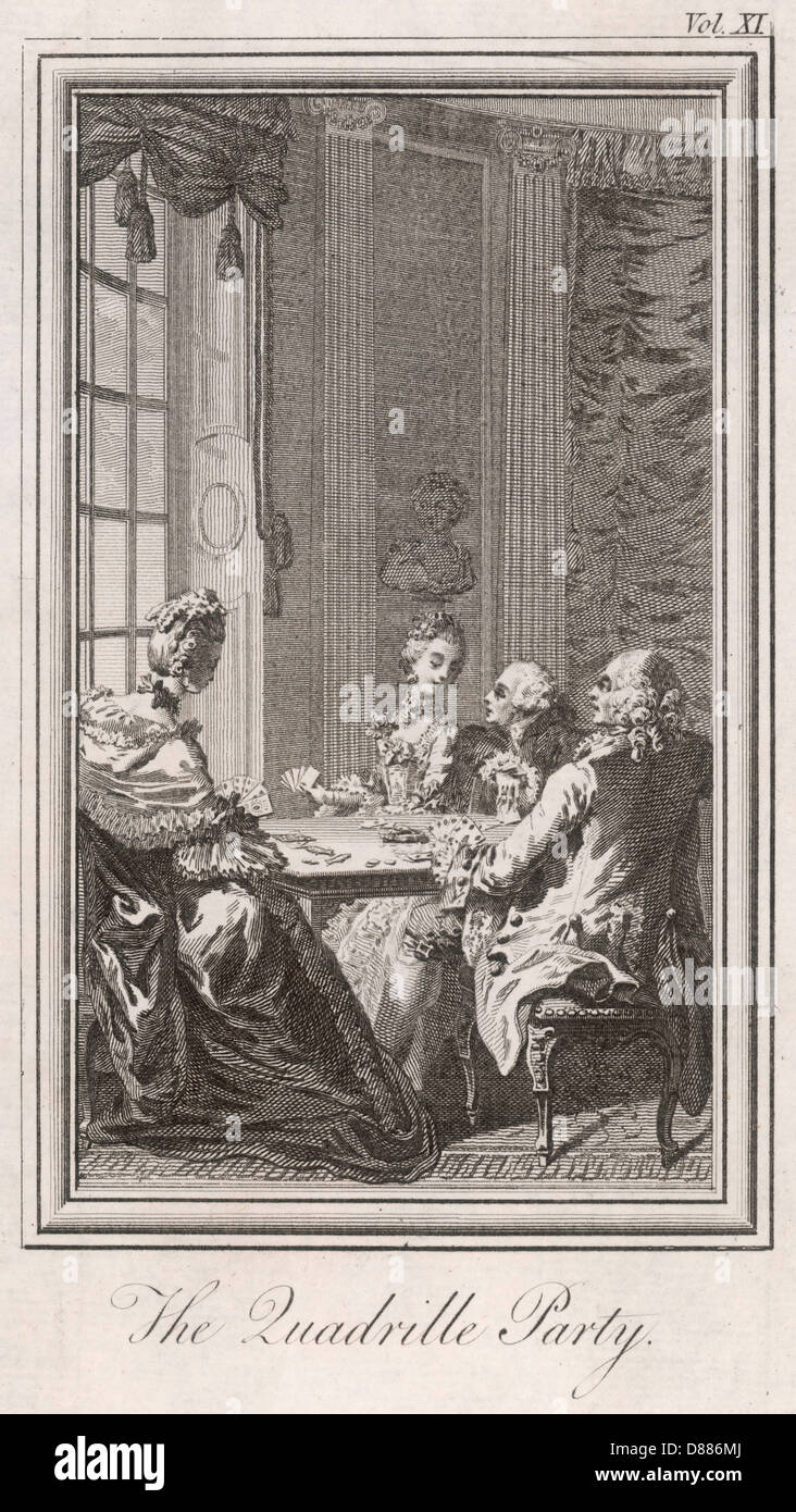A Game Of Quadrille - Stock Image