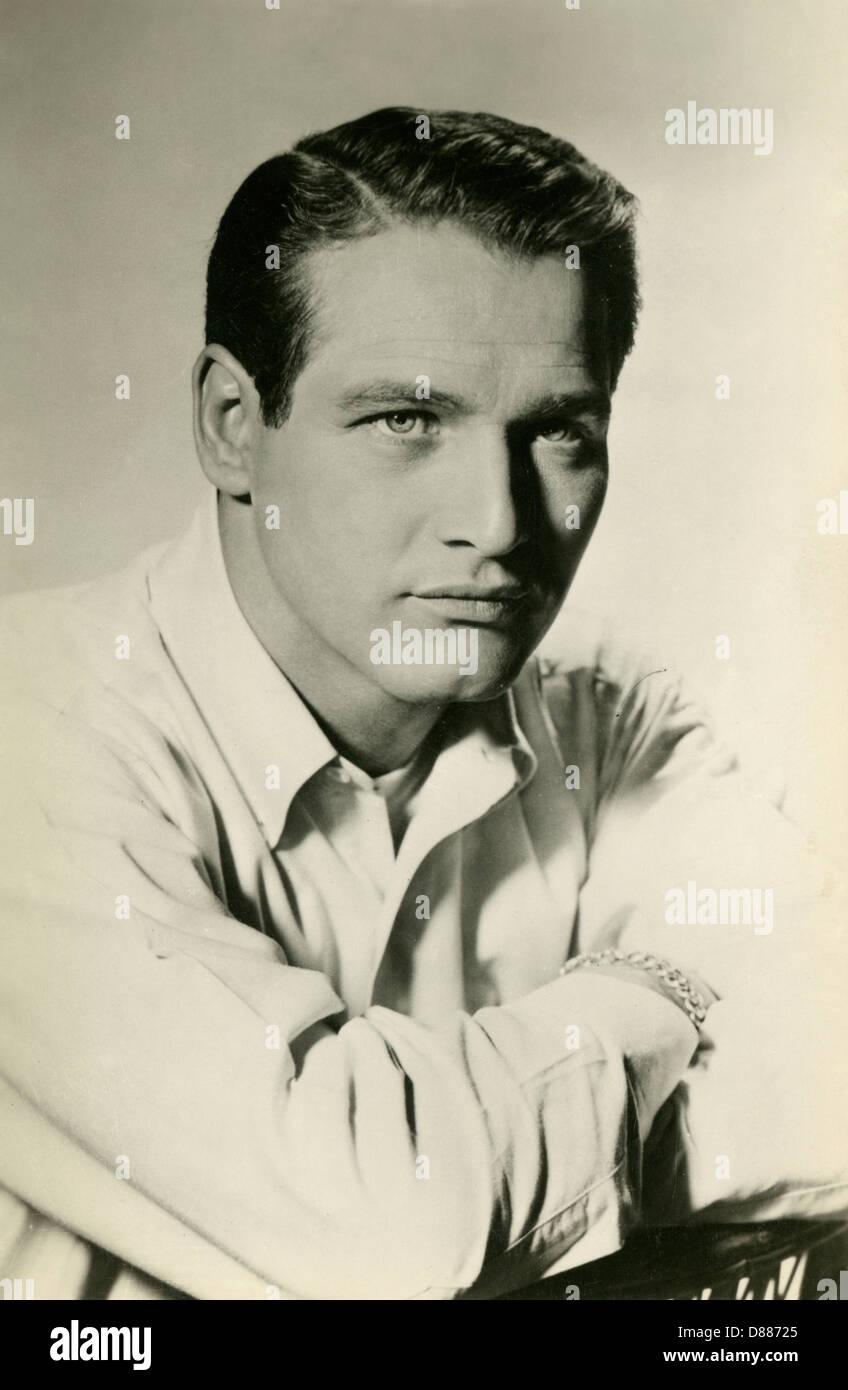 Paul Newman Postcard - Stock Image