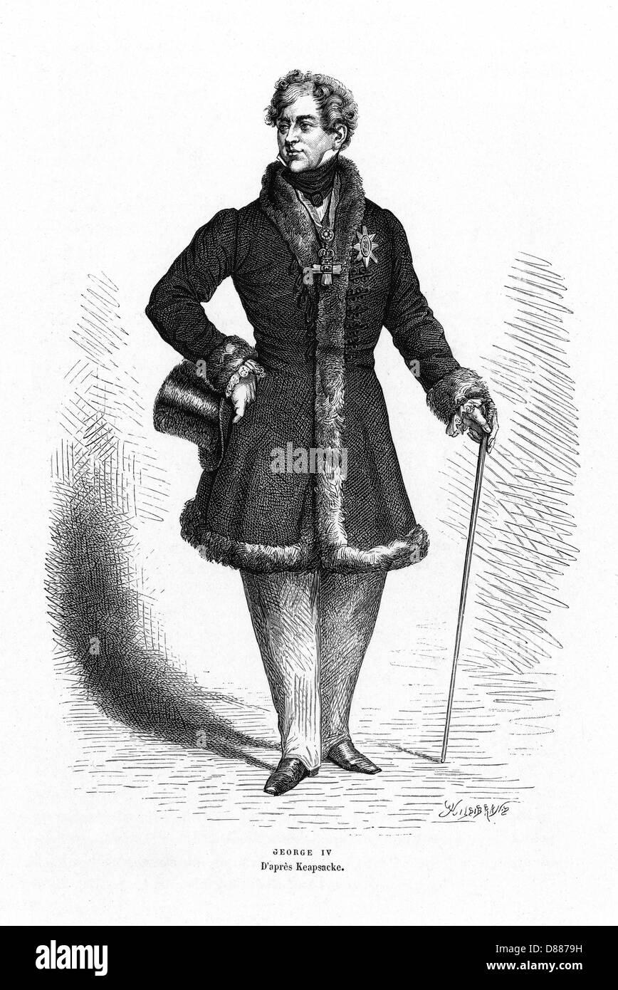 King George Iv Keapsacke - Stock Image