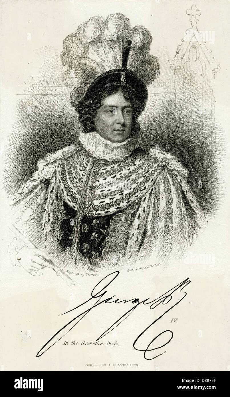 King George Iv Thomson - Stock Image
