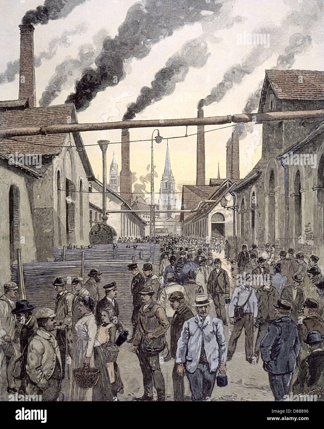 Uckingen Ironworks 1899 - Stock Image