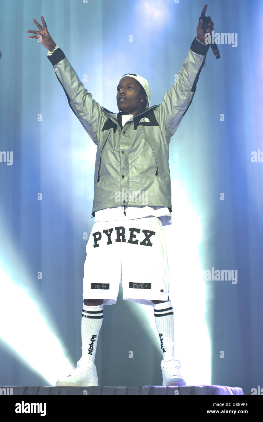 London, UK. 21st May 2013.  A$AP Rocky performs live at O2 Academy Brixton. Credit:  Piero Cruciatti / Alamy Live Stock Photo