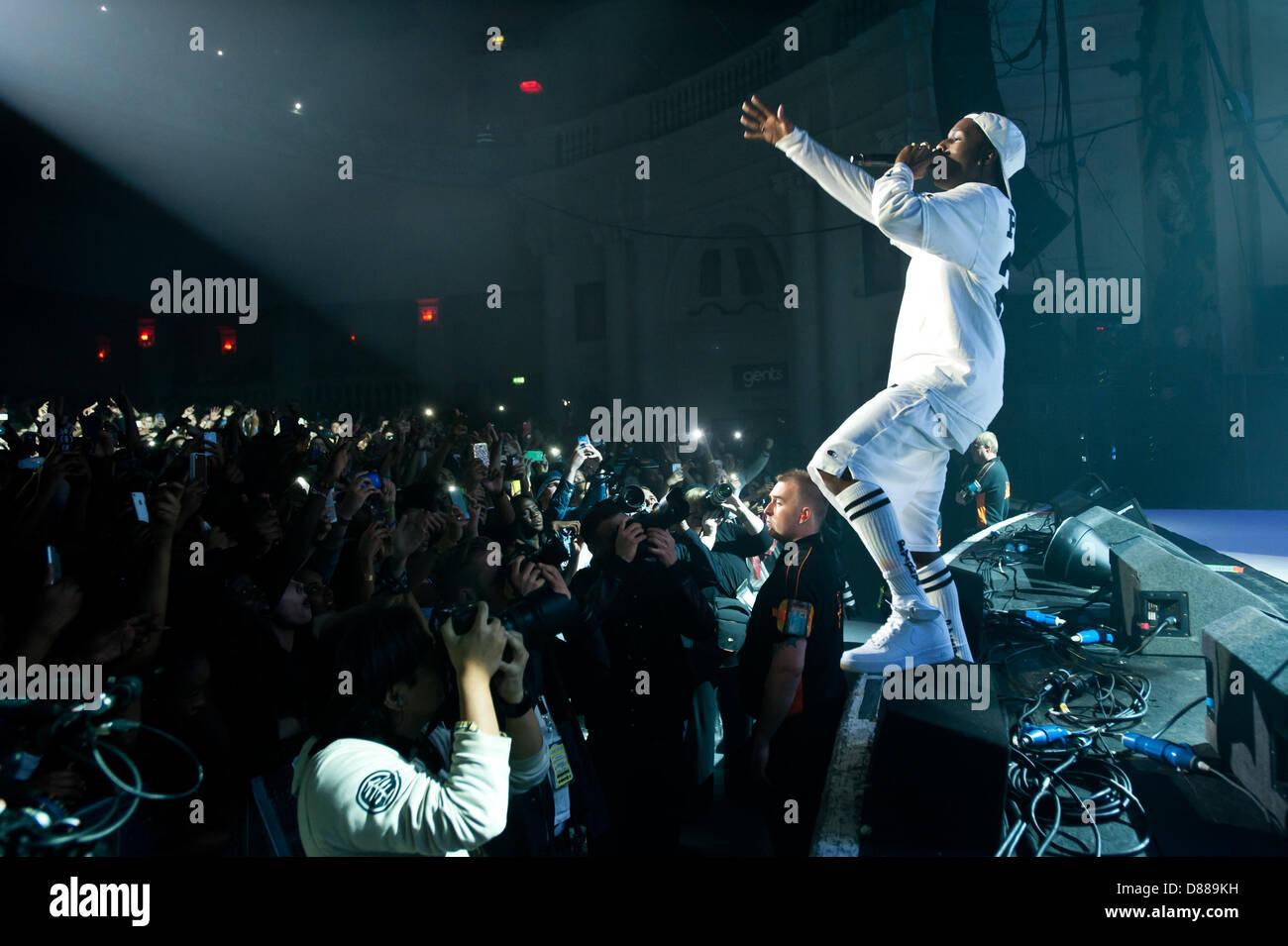 London, UK. 21st May 2013.  A$AP Rocky performs live at O2 Academy Brixton. Credit:  Piero Cruciatti / Alamy Live Stock Photo
