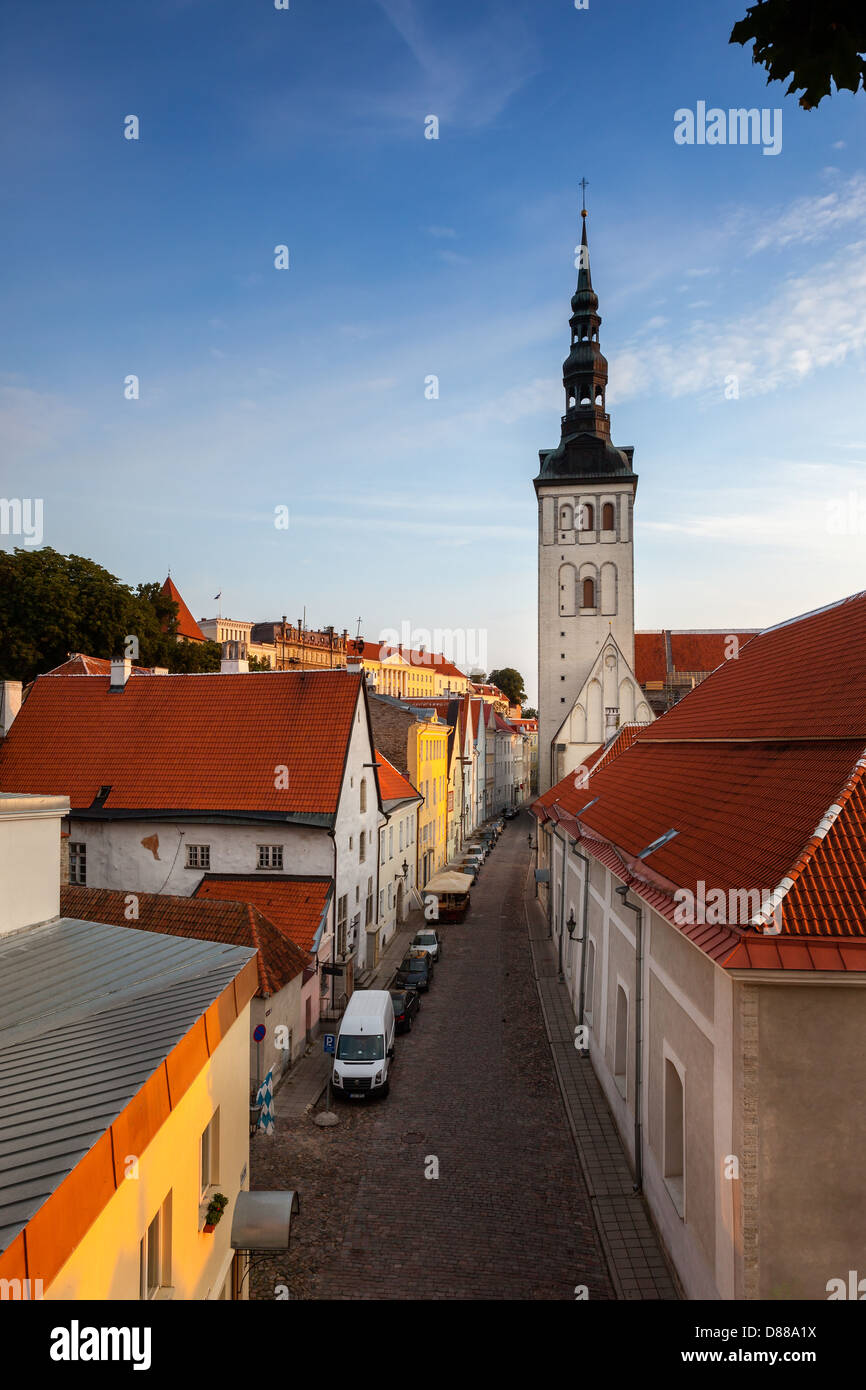 Tallinn is the capital and largest city of Estonia.It is situated on the shore of the Gulf of Finland. - Stock Image