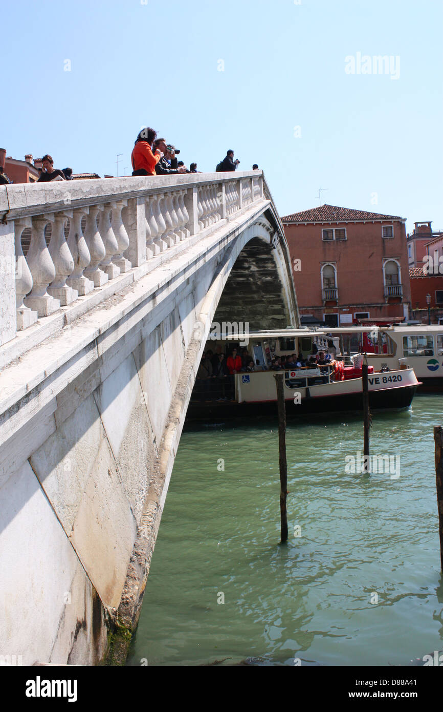 Ferry in Venice, Italy Stock Photo