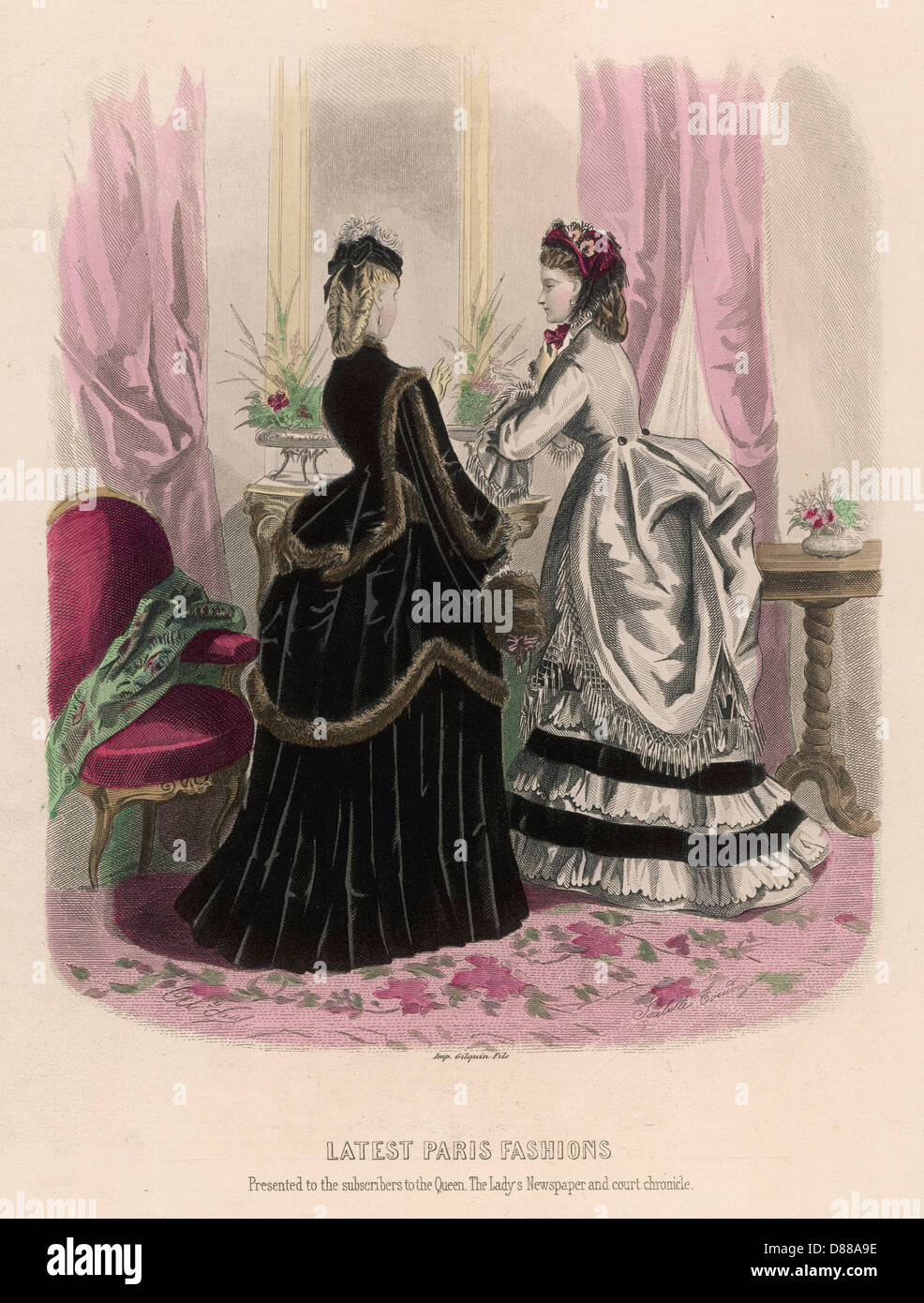 Costume December 1871 - Stock Image