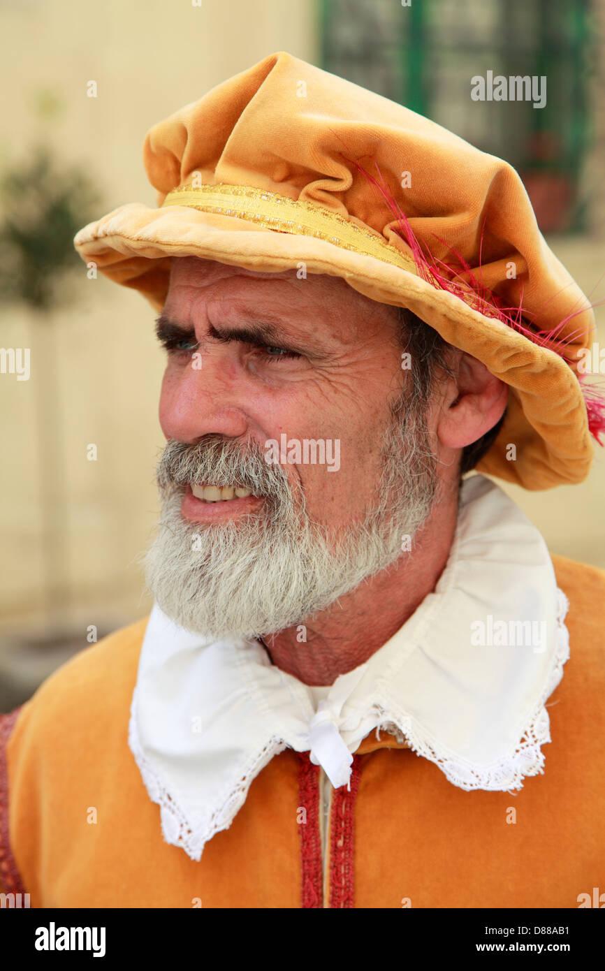 Malta, Valletta, man in traditional dress, - Stock Image