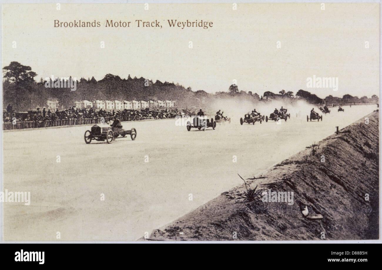 Brooklands Motor Racing Stock Photo