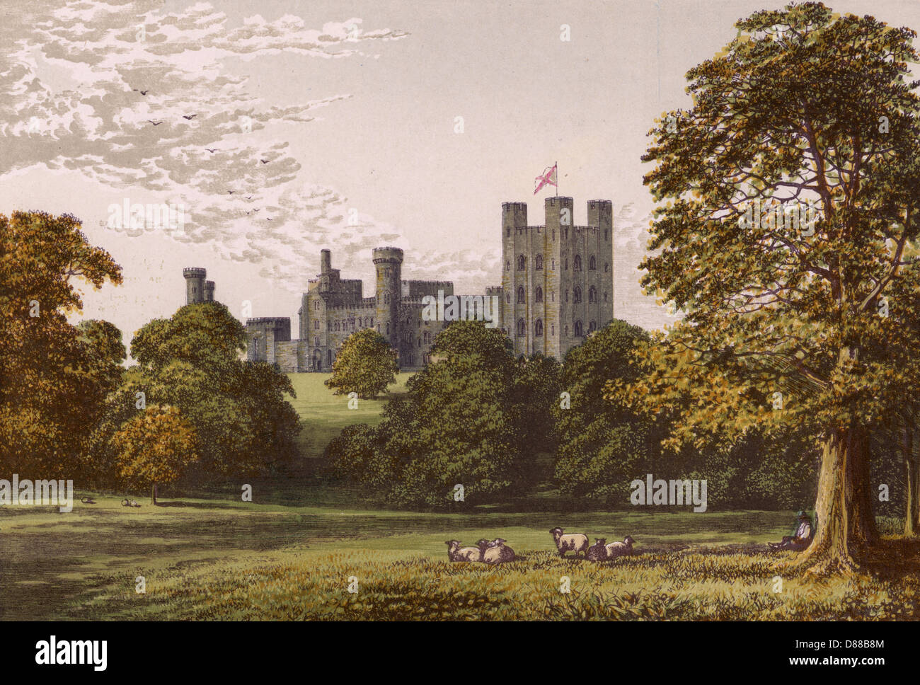 Penrhyn Castle 1879 - Stock Image