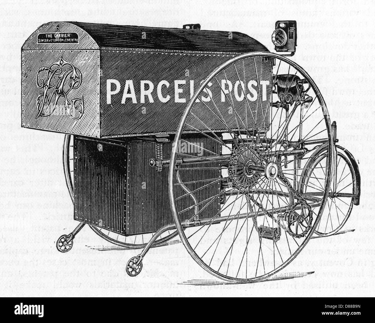 Parcel Delivery Tricycle - Stock Image