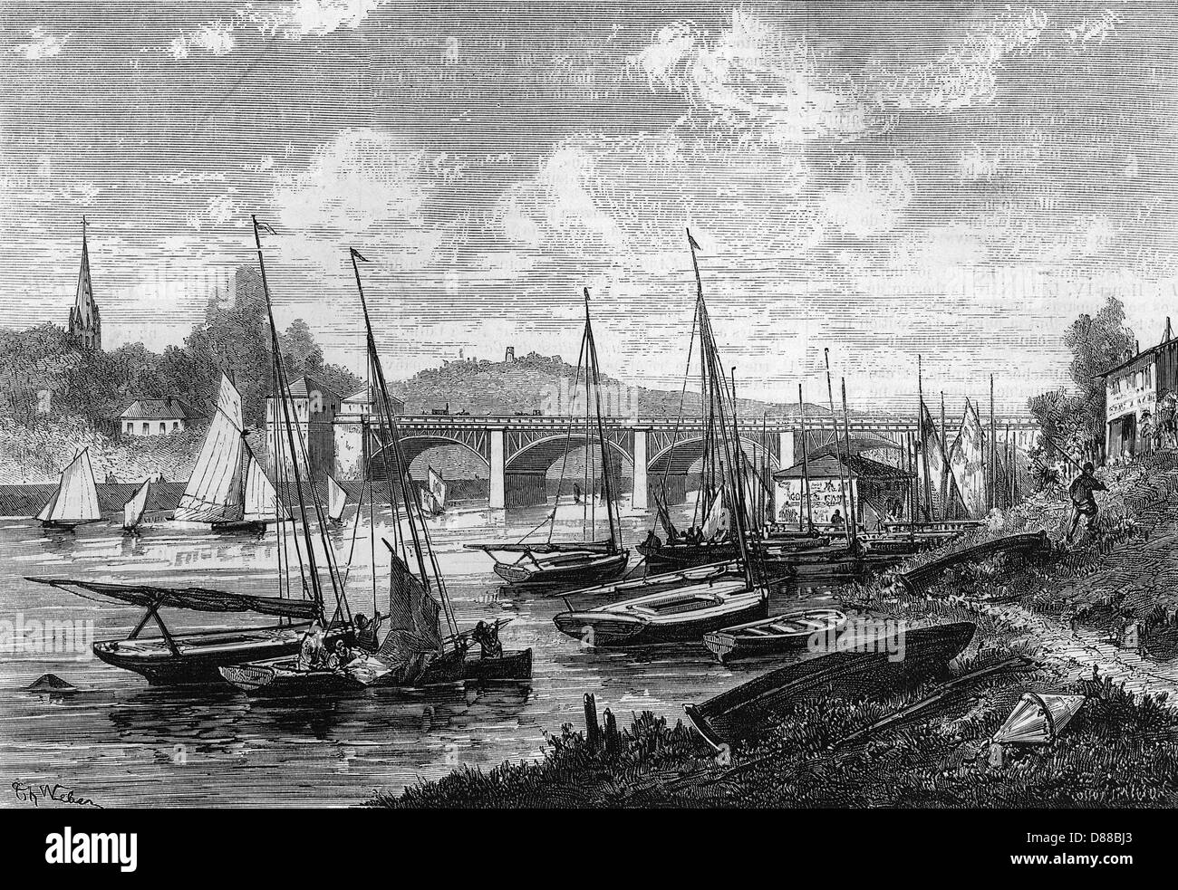 France Argenteuil 1869 - Stock Image