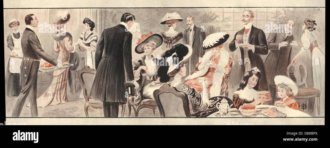 Big Posh Tea Party - Stock Image