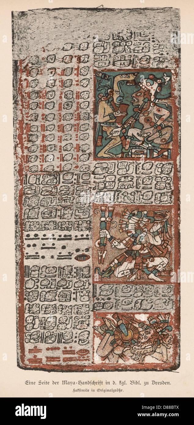 Dresden Codex - Stock Image