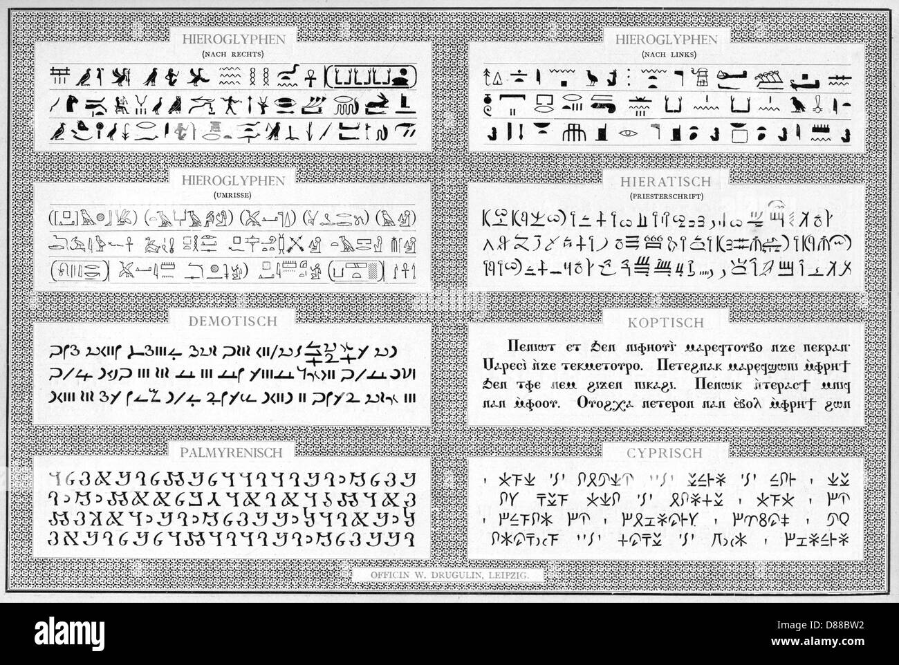Ancient Scripts 2 - Stock Image