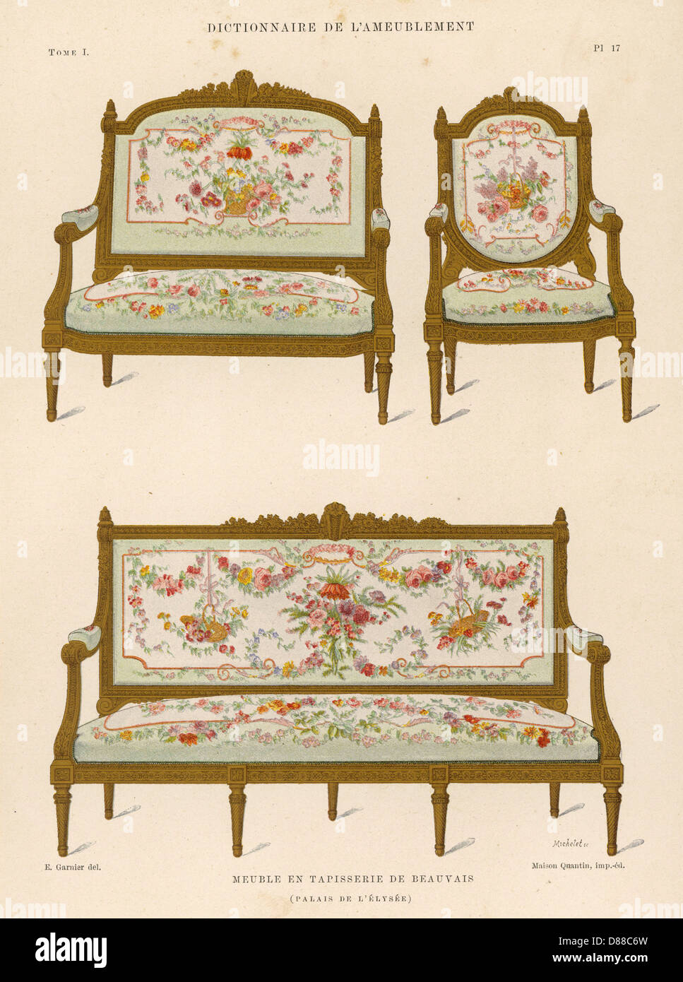 Settee And Chairs - Stock Image