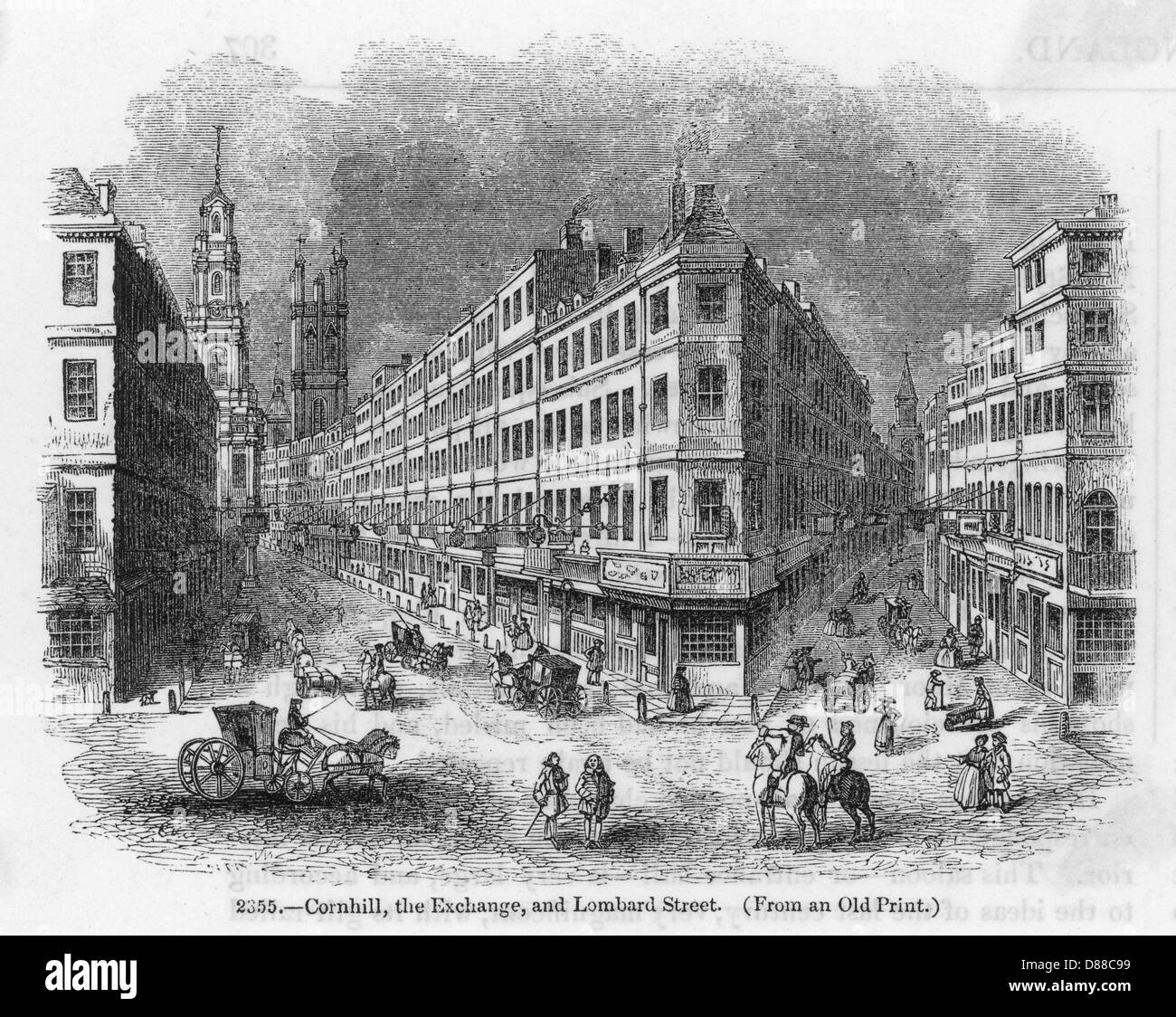 London Streets C.1700 - Stock Image