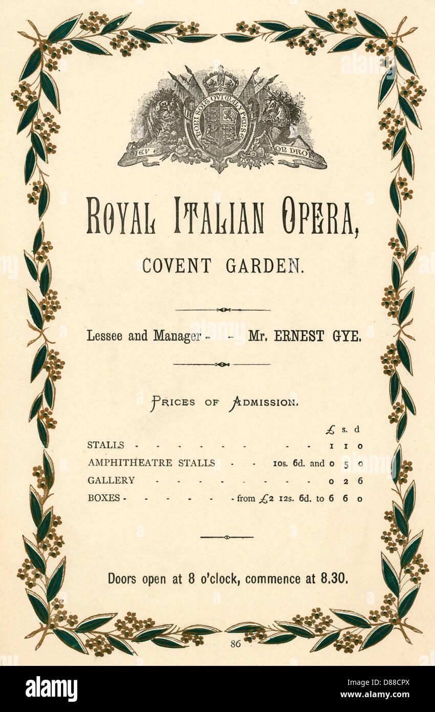 Covent Garden Advert. - Stock Image
