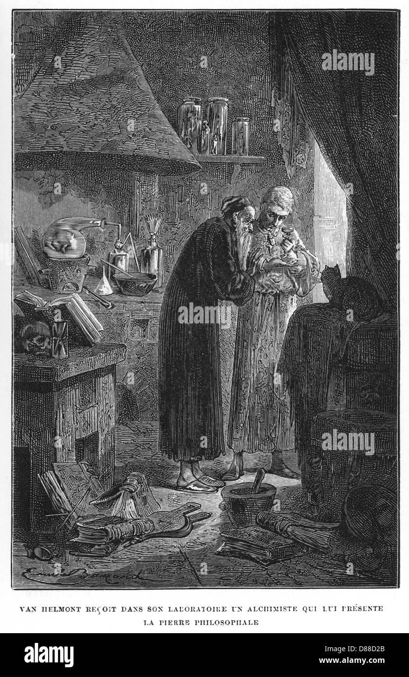 Alchemy Van Helmont - Stock Image