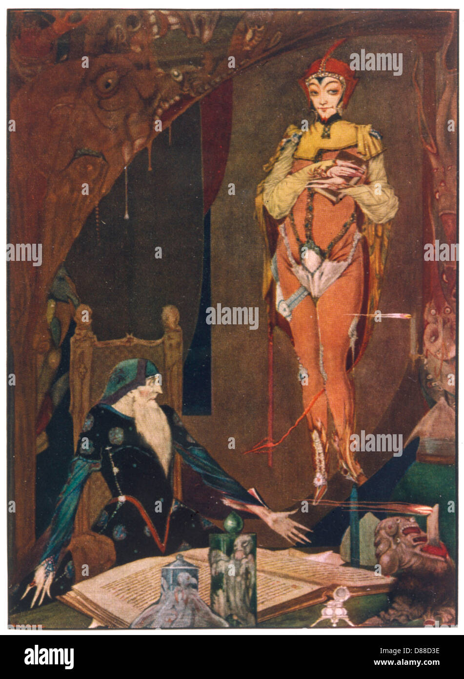 Faust And Mephistopheles - Stock Image