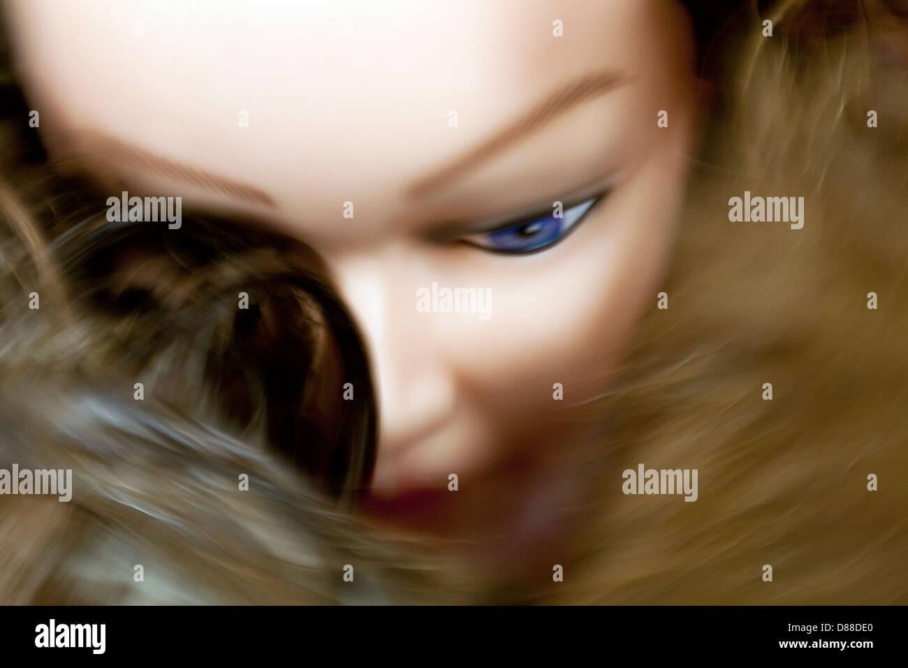 Creepy mannequin heads - Stock Image