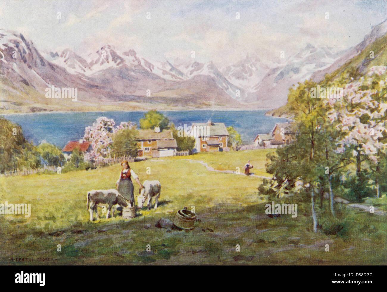 Norway Romsdal 1914 - Stock Image