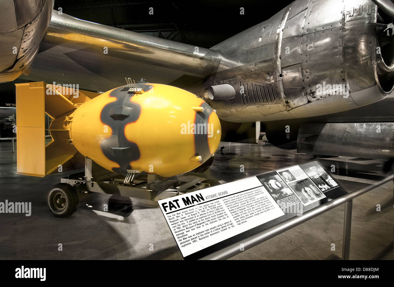 The first Atomic bomb,Fat Man,recreation at the USAF museum, Dayton Ohio - Stock Image