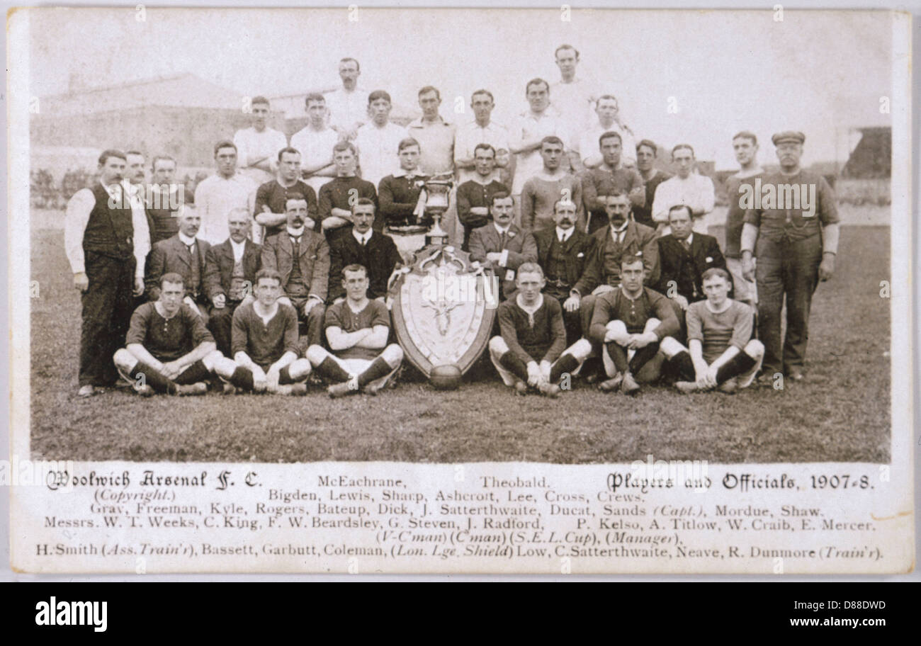 Woolwich Arsenal Team - Stock Image