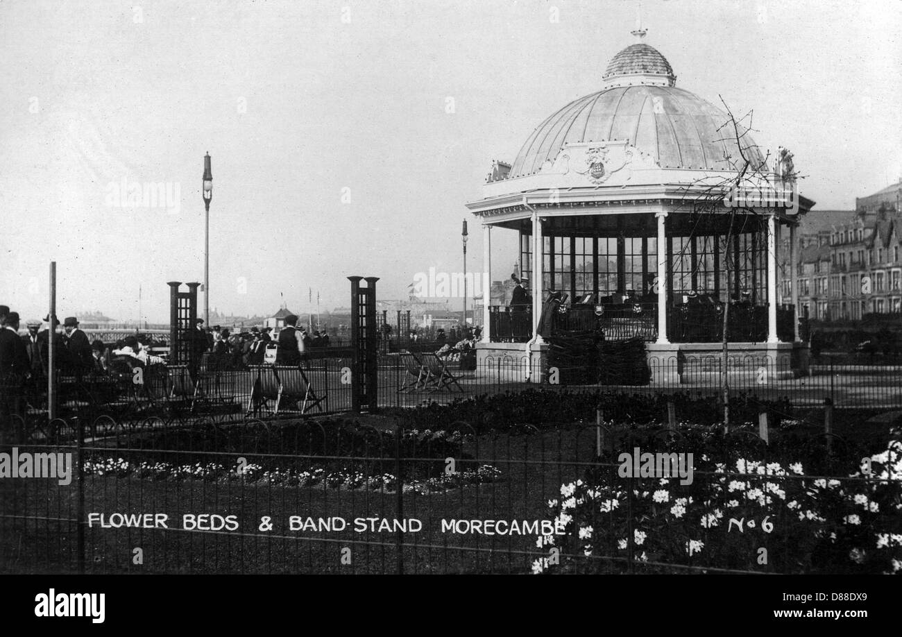 Bandstand  Morecambe 2 - Stock Image