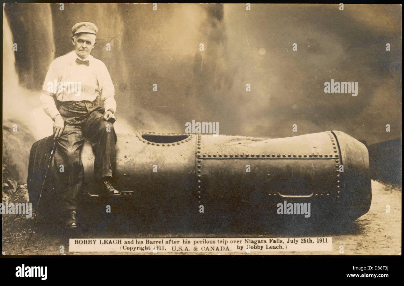 Bob Leach His Barrel Stock Photo