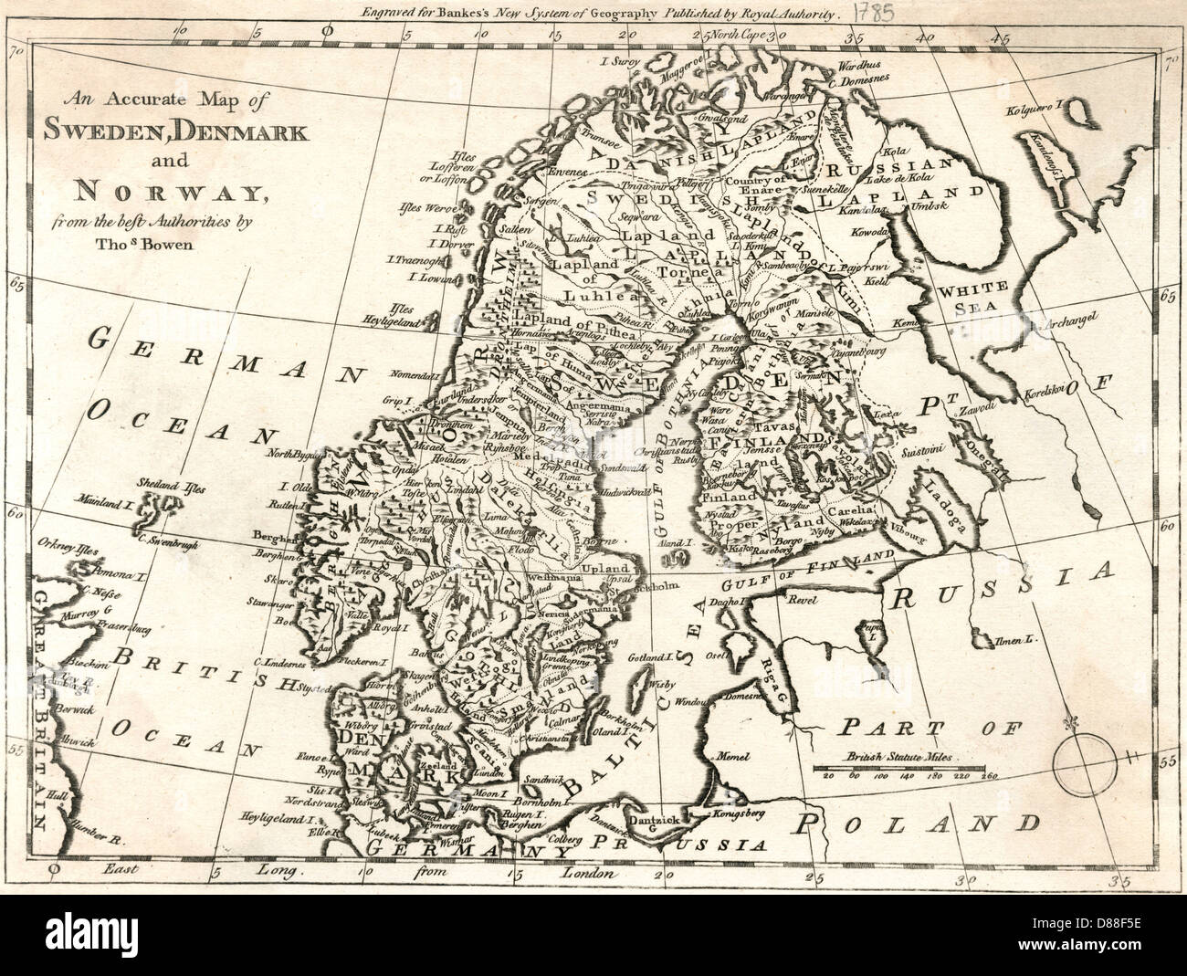 Scandinavia Map Stock Photos & Scandinavia Map Stock Images - Alamy