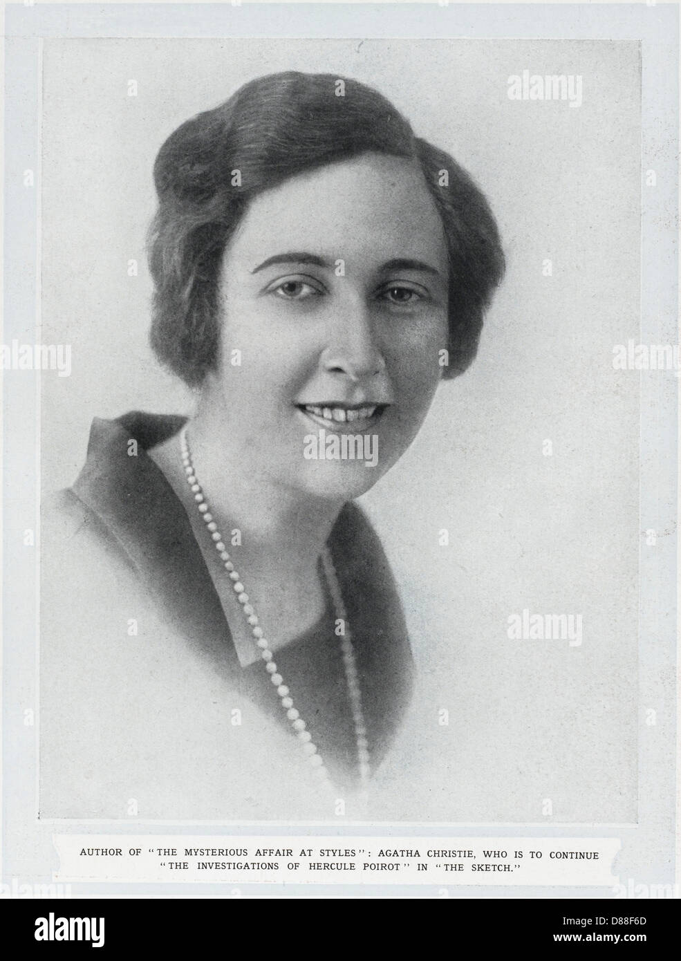 Agatha Christie  1923 - Stock Image