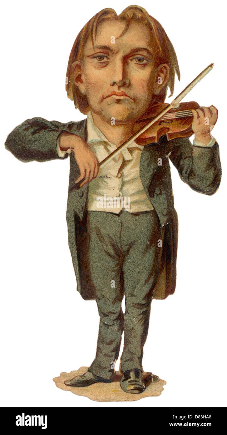 Violinist Scrap Stock Photo
