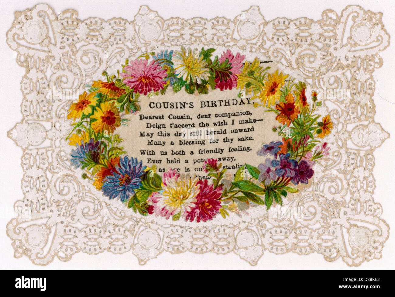 Birthday Card Cousins Stock Photo 56739259