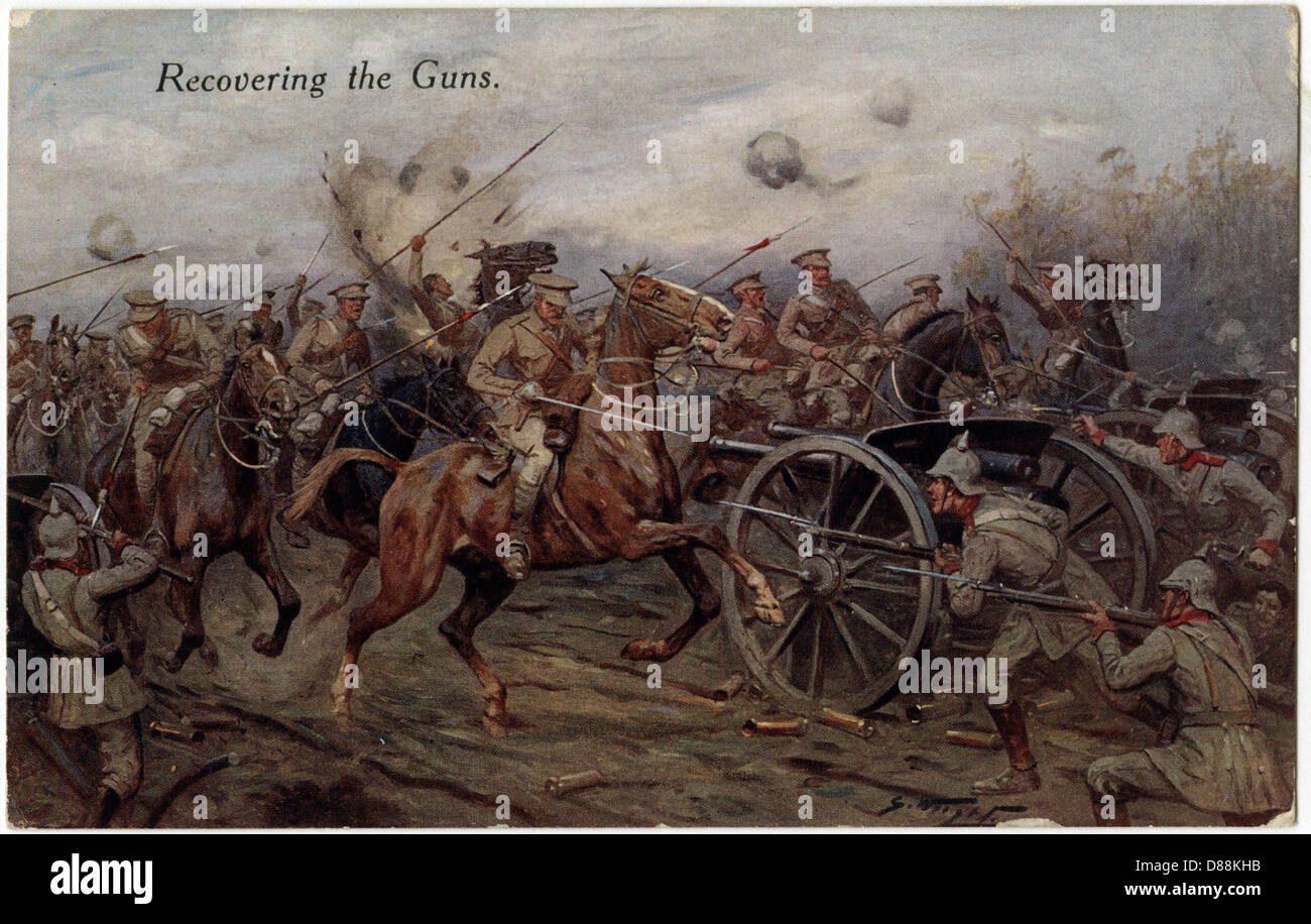 Recovering The Guns 1914 - Stock Image