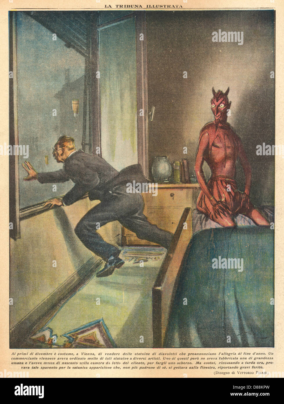 Devilish Funny Ha Ha - Stock Image