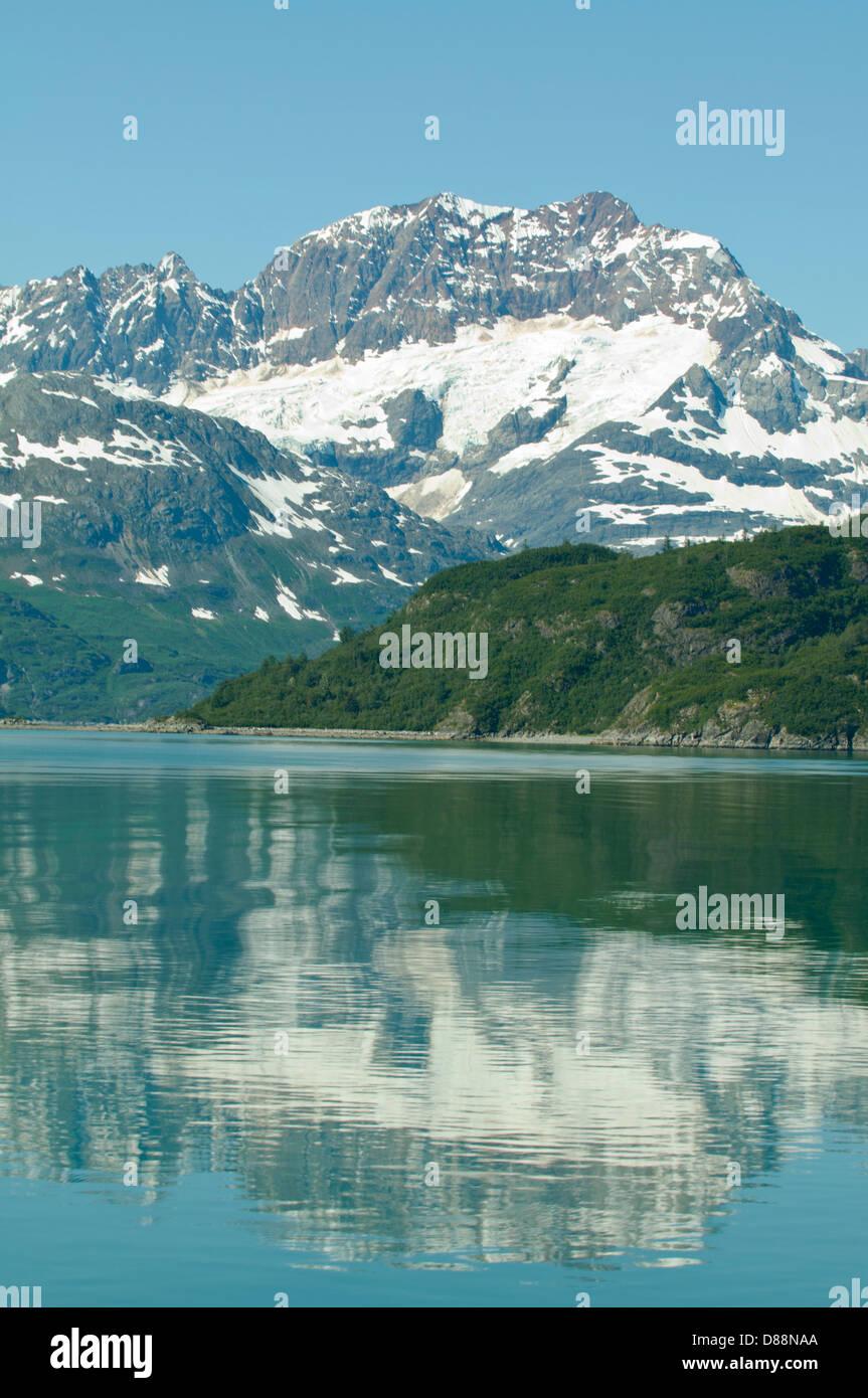 Reflections in Glacier Bay, Alaska, USA - Stock Image